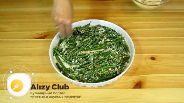 По рецепту для приготовлеия блюда из стручковой фасоли. натрите сыр