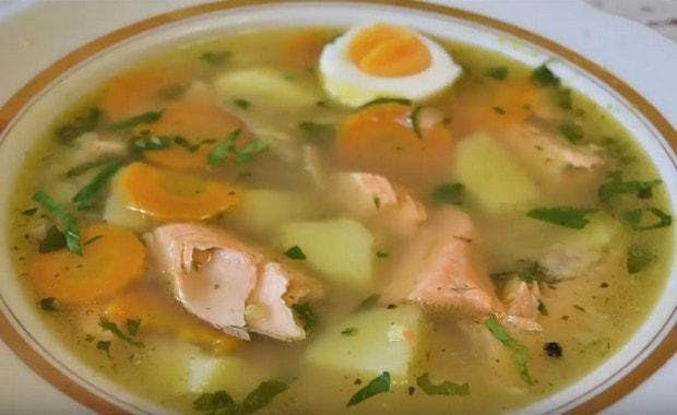 Рецепт рыбного супа из форели с фото