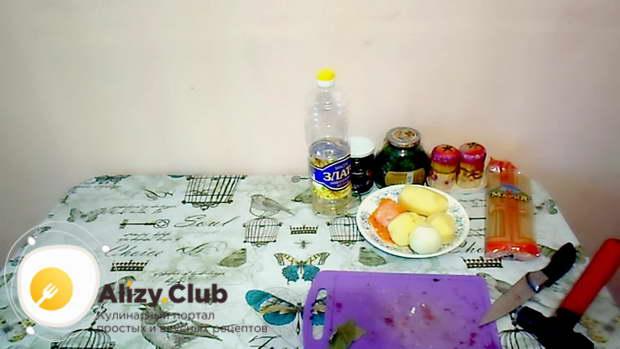 Овощи очистите и помойте