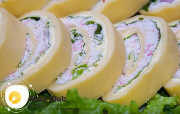 Посмотрите, как роскошно выглядит такая закуска в разрезе!