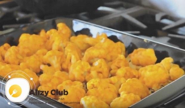 По такому же рецепту можно приготовить замороженную цветную капусту в кляре.