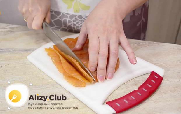 рецепт тарталеток с красной рыбой и сыром
