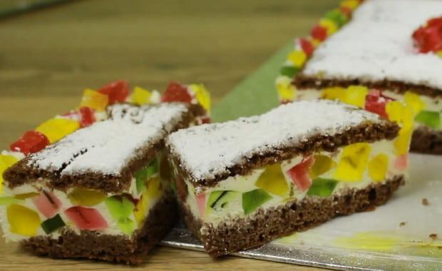 Пошаговый рецепт вкусного желейного торта «Битое стекло» с фото