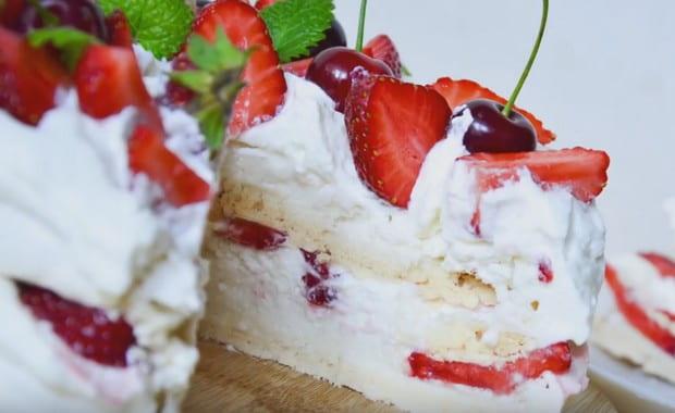 Пошаговый рецепт приготовления торта «Павлова» с фото