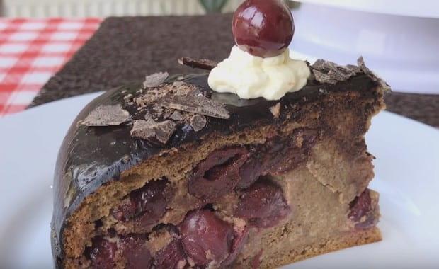 Пошаговый рецепт приготовления торта «Пьяная вишня» с фото