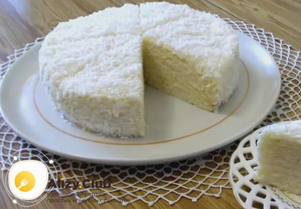 Приготовьте такой торт Рафаэлло по рецепту с творогом, и он украсит ваше чаепитие!