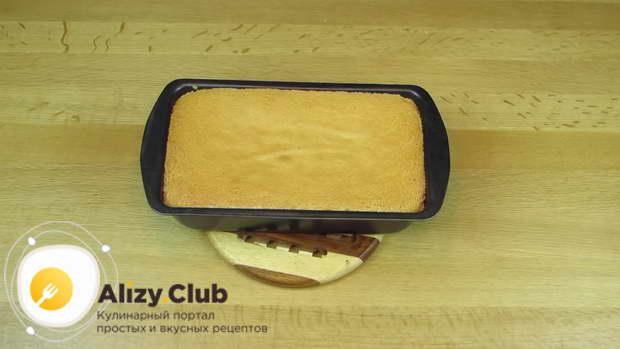 Готовому бисквиту даем полностью остыть и выстояться около 5 часов