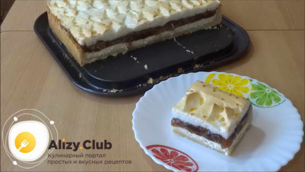 Также можно накрыть горячий торт стеклянной крышкой и оставить его до полного остывания