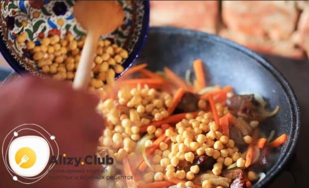 Как приготовить узбекский плов с нутом по детальному рецепту с фото и видео