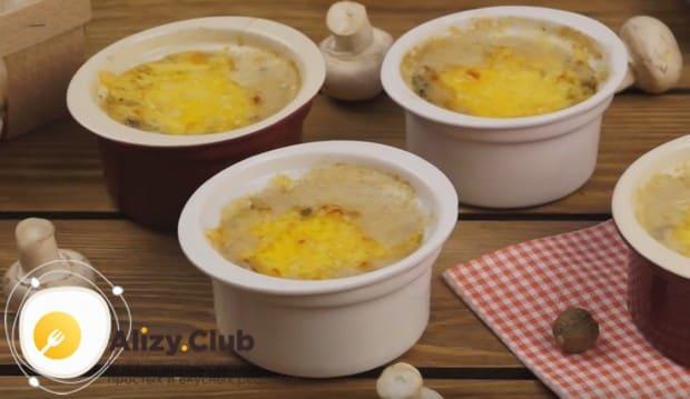 Как видите, такой рецепт жульена с грибами и сыром отлично подойдет для праздничного стола!