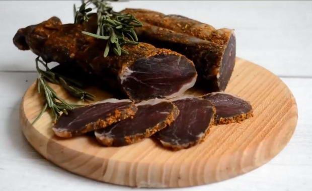 Пошаговый рецепт бастурмы из свинины в домашних условиях