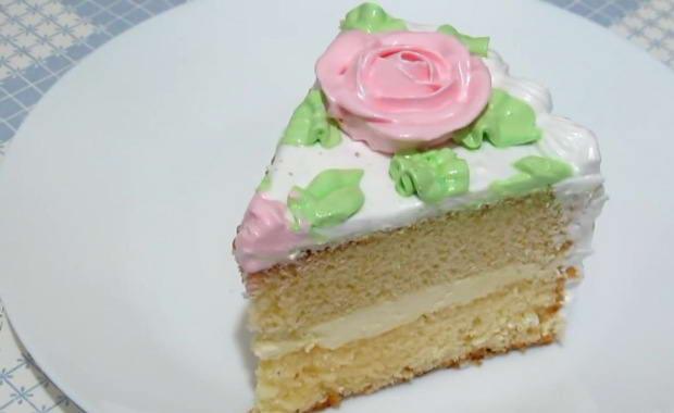 Очень вкусный и простой рецепт приготовления бисквитного торта
