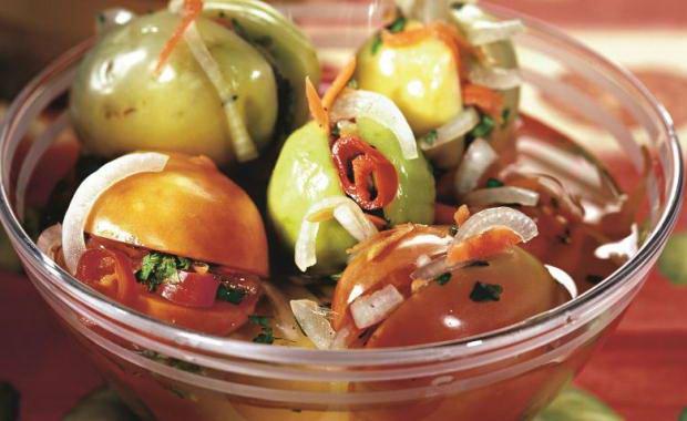 Рецепт приготовления фаршированных зеленых помидоров на зиму