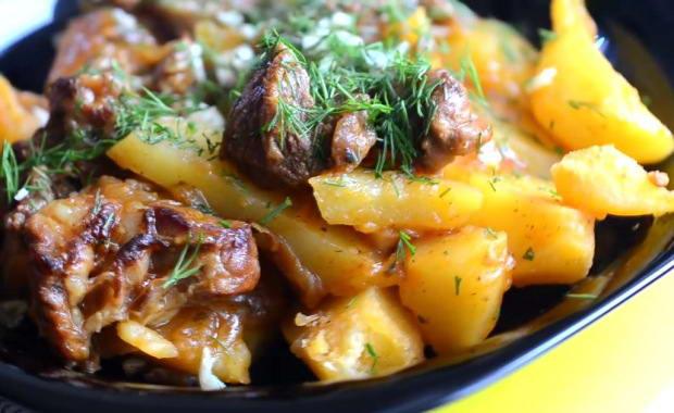 Пошаговый рецепт приготовления говядины с картошкой в мультиварке