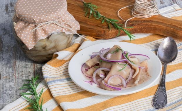 Рецепт быстрого приготовления маринованных вешенок