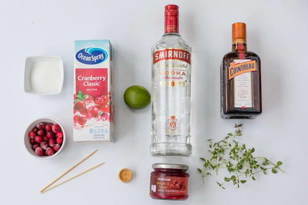 ингредиенты для коктейля космополитен