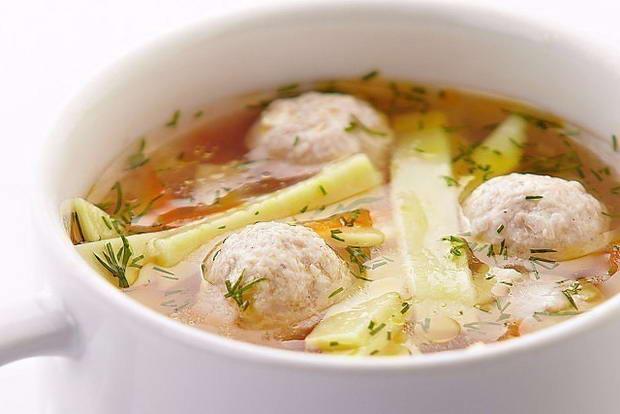как подавать суп с фрикадельками