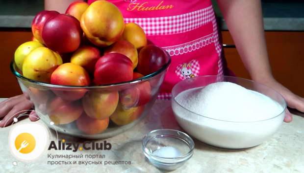 компот из нектарина на зиму простой рецепт