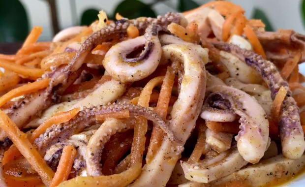 Самый вкусный рецепт приготовления кальмаров по-корейски с фото