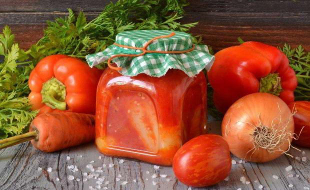 Рецепт перец в томате