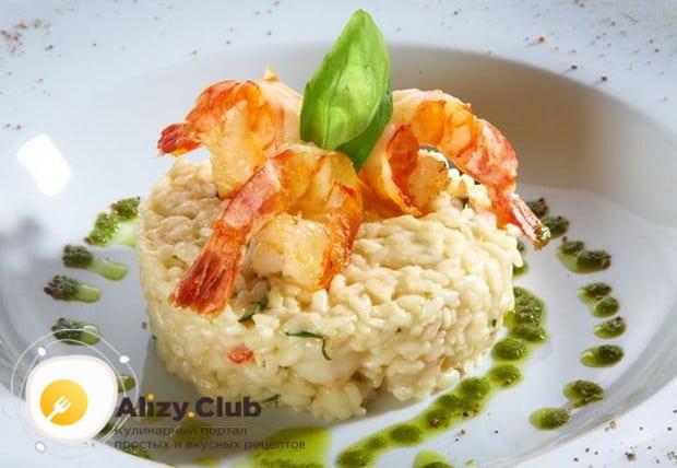 Как приготовить ризотто с морепродуктами в сливочном соусе по подробному рецепту