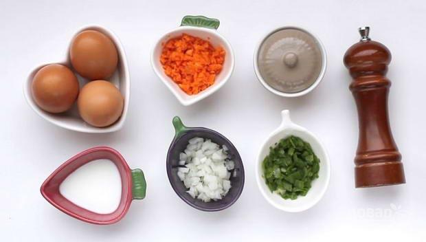 омлет рецепт с молоком и яйцом