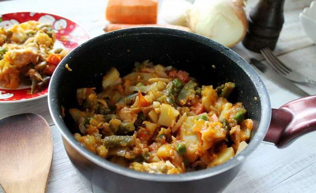 Рецепты приготовления овощного рагу с капустой и с картошкой