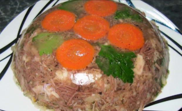 Пошаговый рецепт приготовления холодца из мяса свинины и говядины