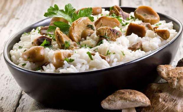 Рецепт приготовления вкусного ризотто с грибами