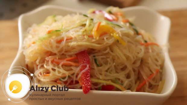 видео о приготовлении корейского салата с фунчозой