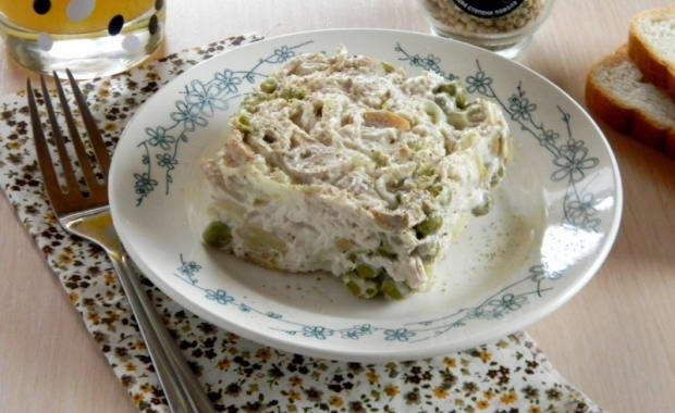 Простой рецепт салата с консервированными шампиньонами
