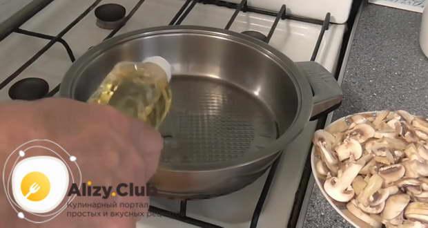 жареная картошка с шампиньонами на сковороде рецепт