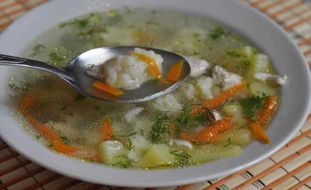 Рецепт супа с клецками на курином бульоне