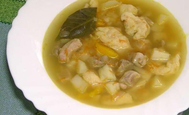 Рецепт вкусного супа на свином бульоне