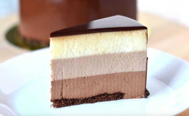 Как приготовить муссовый торт три шоколада по пошаговому рецепту с фото