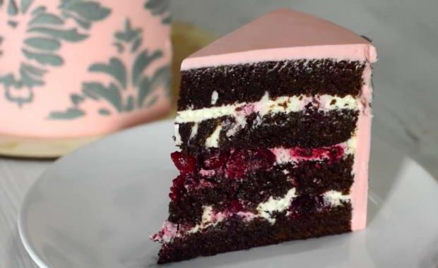 Пошаговый рецепт приготовления торта Черный лес