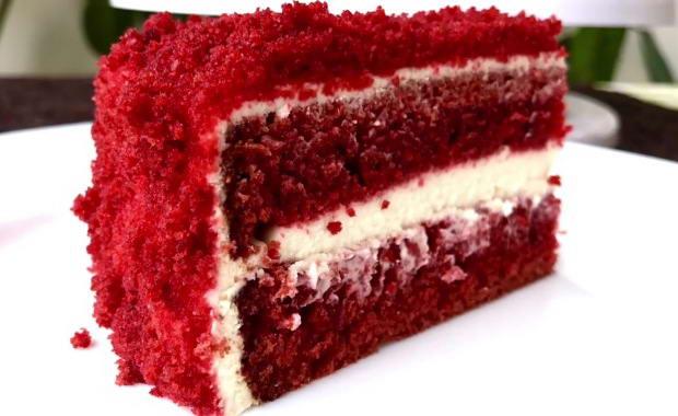 Пошаговый рецепт нежного торта Красный бархат с фото