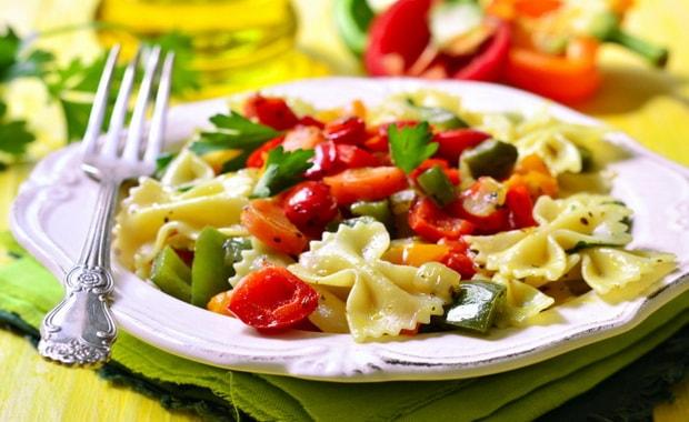 Макароны с овощами по рецепту с фото