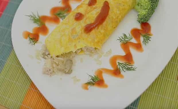 Рецепт приготовления вкусного японского рисового омлета
