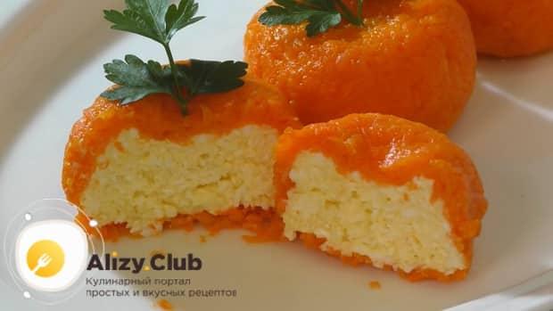 Для приготовления сырной закуска мандаринки, по рецепту, подготовьте все необходтиое