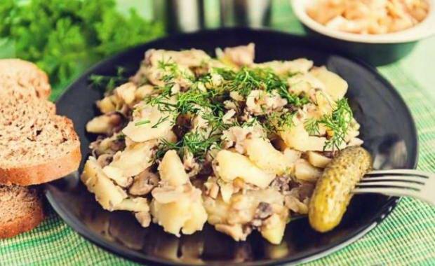 Как приготовить жареную картошку с шампиньонами