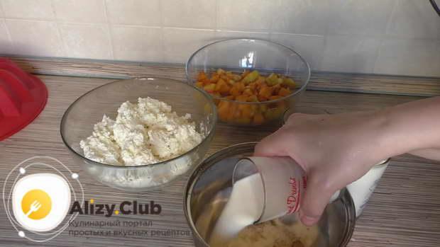 Рецепт с фото бланманже творожное с фруктами