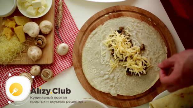 блинчики с картошкой и грибами