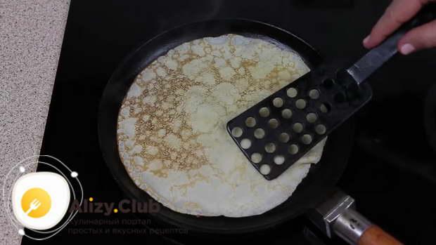 Блинчики с грибами нежные