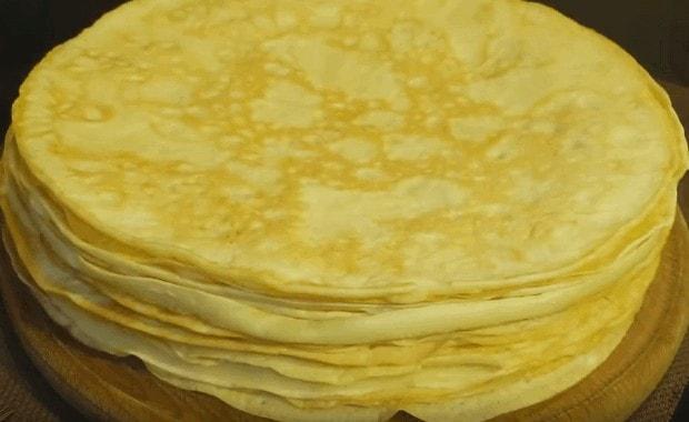 Пошаговый рецепт приготовления блинов на майонезе с фото