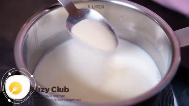Для приготовления диетического торта. залейте желатин для набухания