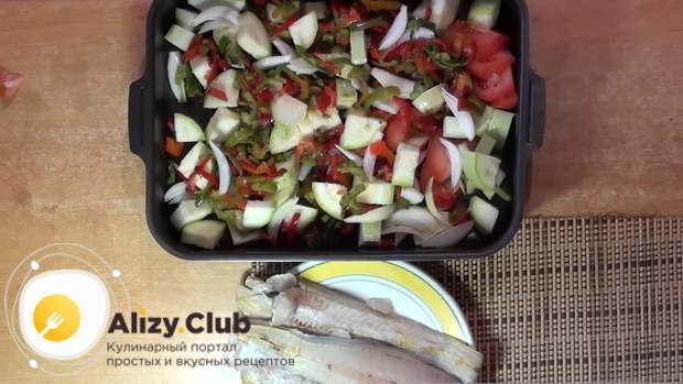 филе минтая с овощами в духовке рецепт