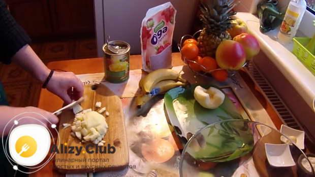 фруктовый салат с йогуртом рецепт простой