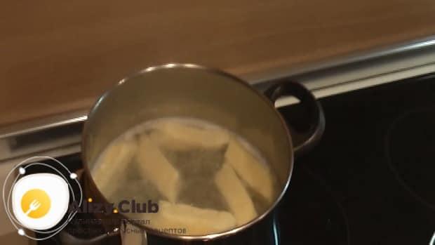 По рецепту для приготовления галушек сварите изделия