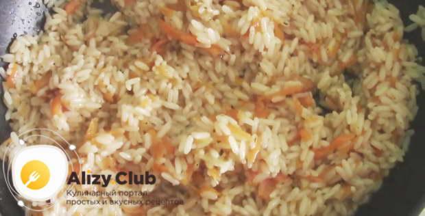 Видео рецепта приготовления риса к рыбе